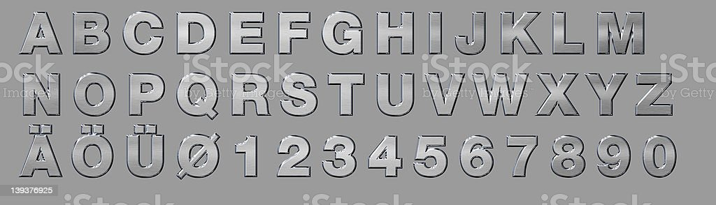 stainless alphabet capitals royalty-free stock photo