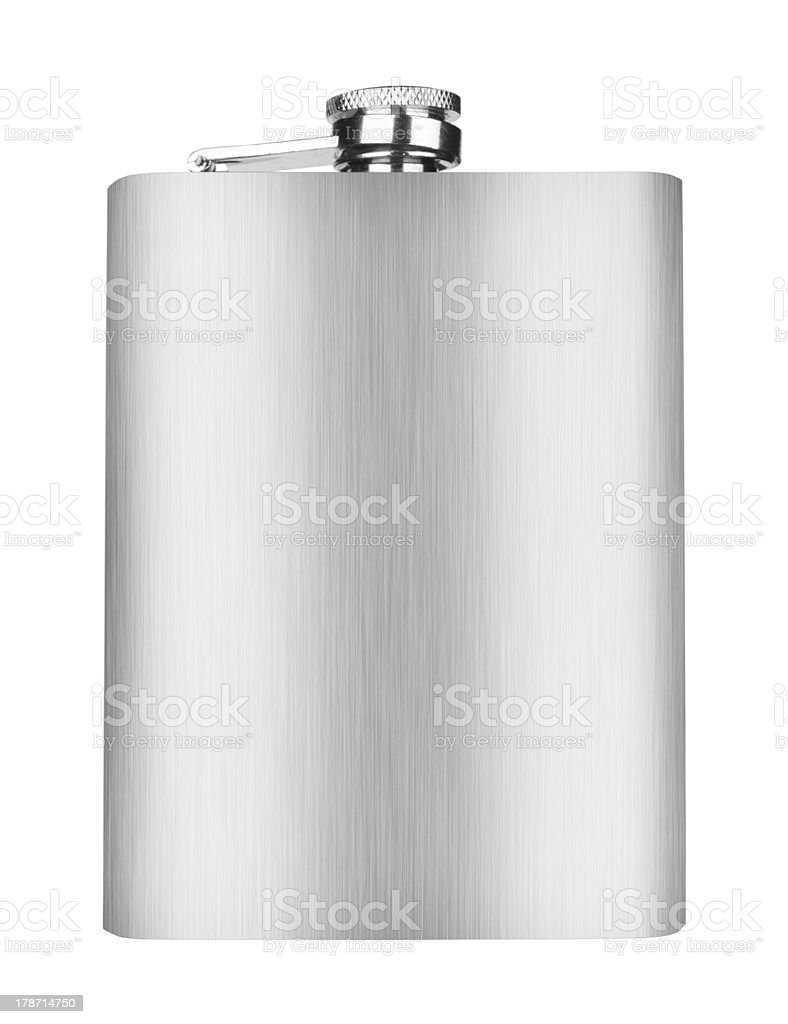 Stainless hip flask royalty-free stock photo