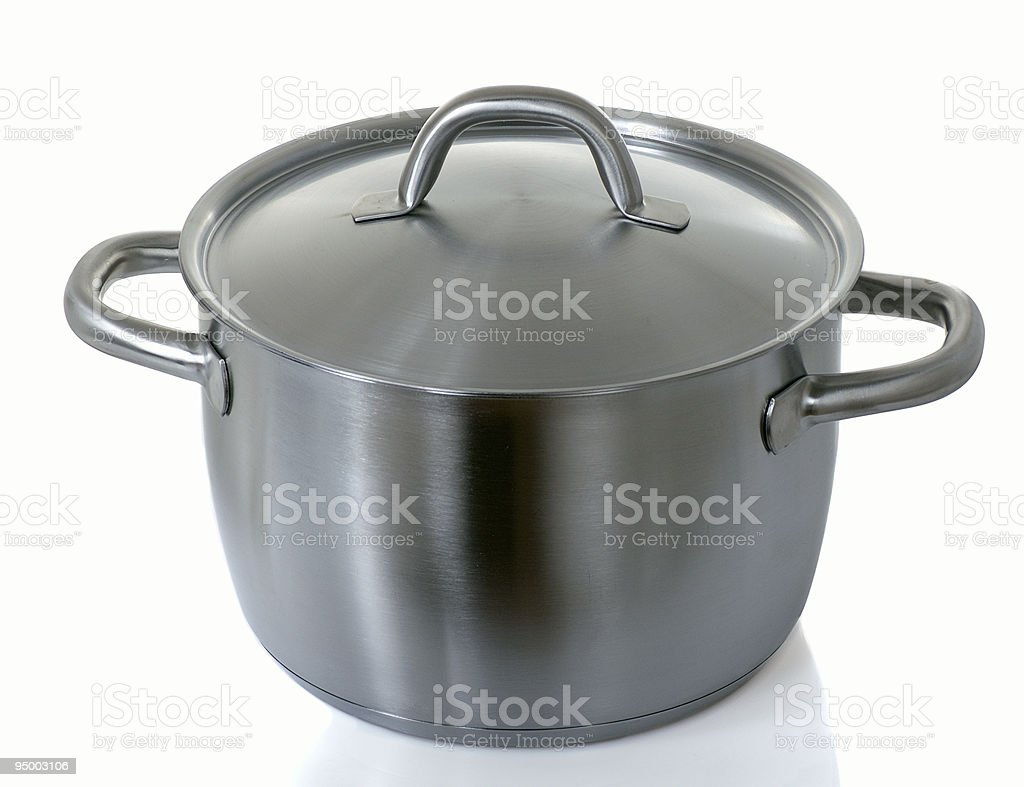 stainless pan royalty-free stock photo