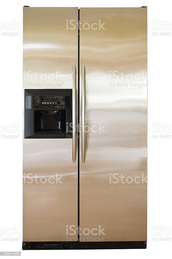 Stainless refrigerator royalty-free stock photo