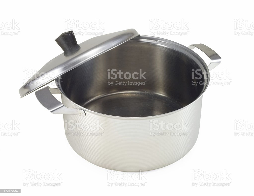 stainless saucepan royalty-free stock photo