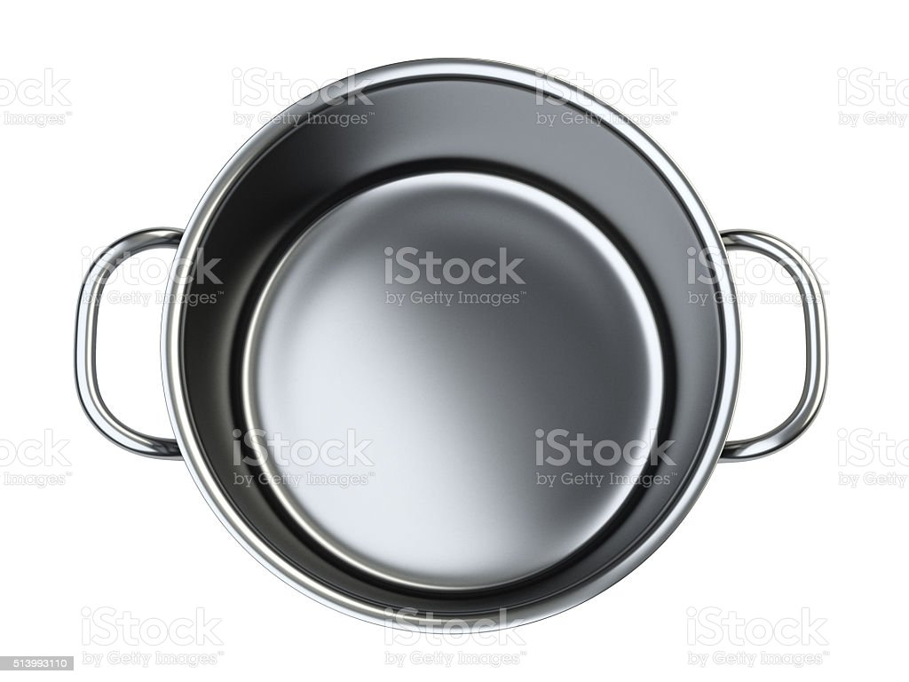 Stainless saucepan. stock photo