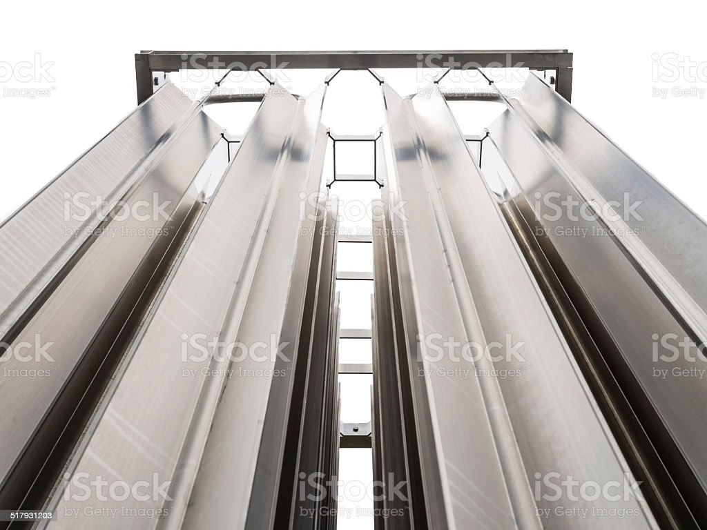 Stainless Seel Evaporator for outdoor nitrogen gas supply system stock photo
