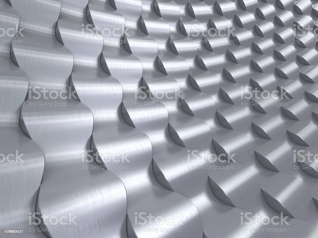 Stainless Steel 3d waves background royalty-free stock photo
