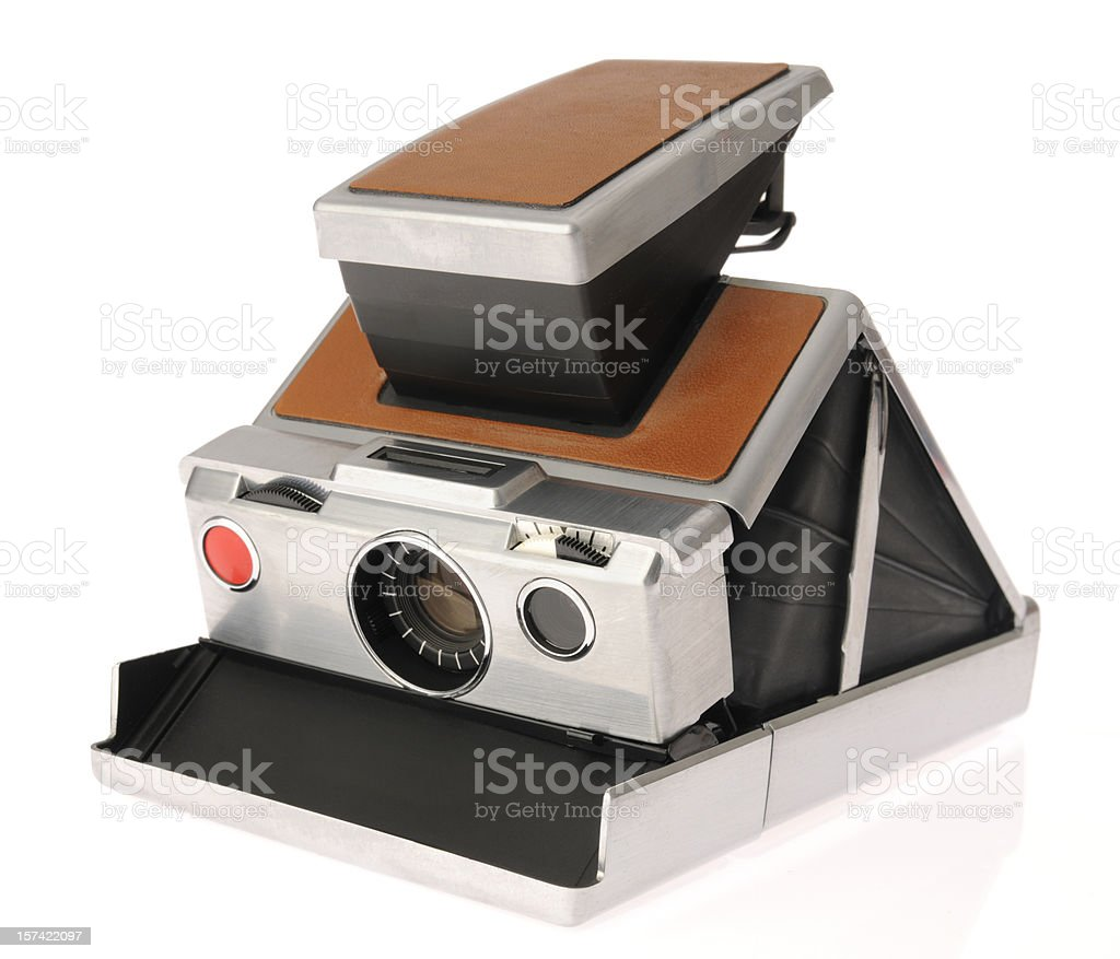 Stainless Steel Antique Camera stock photo