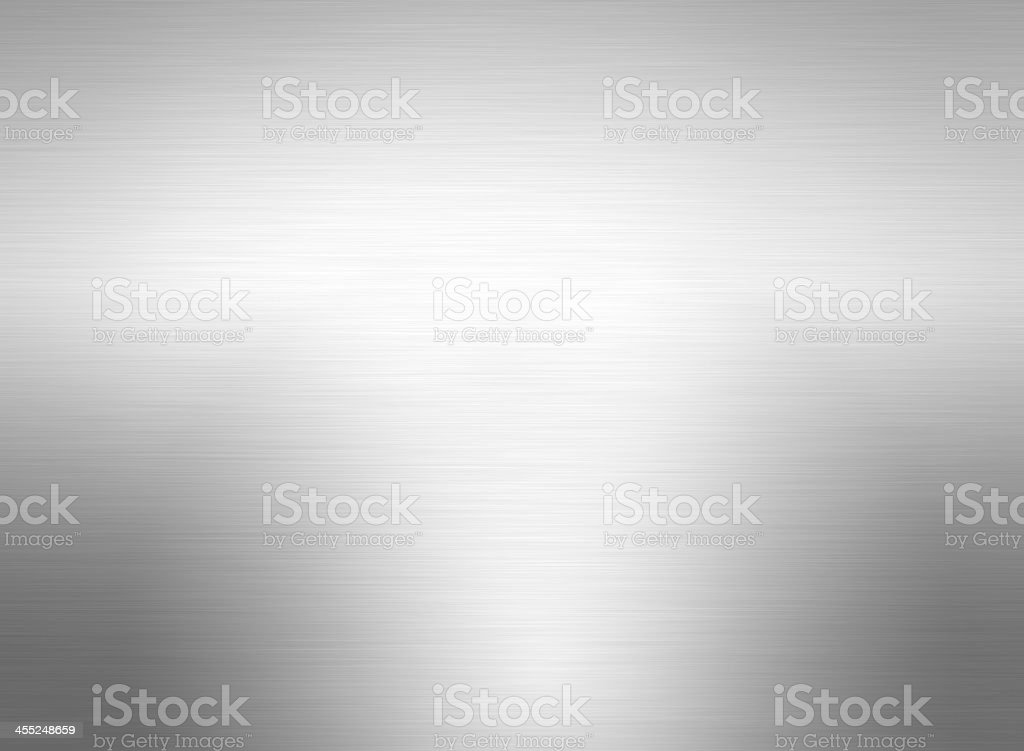 Stainless steel background with shadowing stock photo