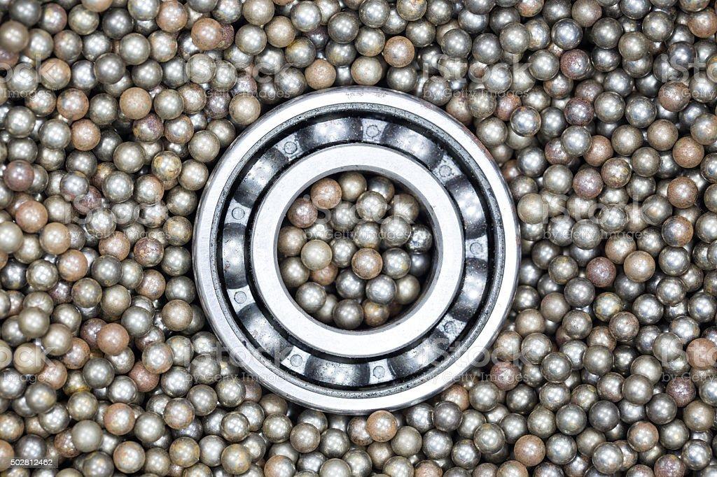 Stainless steel ball bearings stock photo