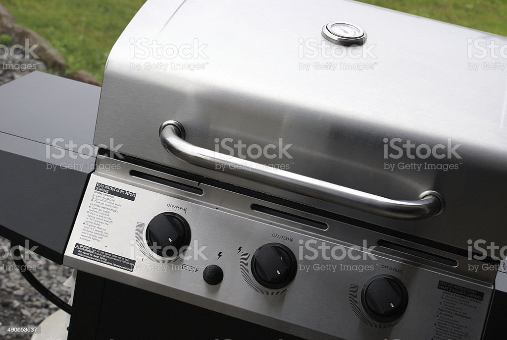 Stainless Steel Barbeque stock photo