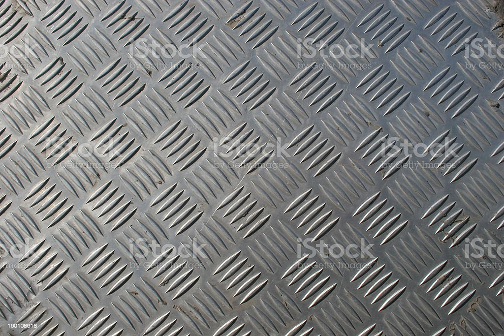 Stainless steel checkerplate royalty-free stock photo