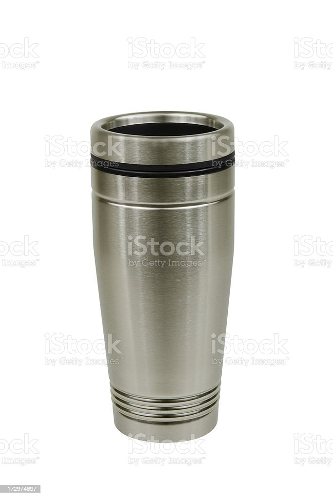Stainless Steel Coffee Mug stock photo