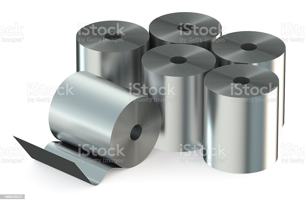 Stainless Steel Coils closeup stock photo