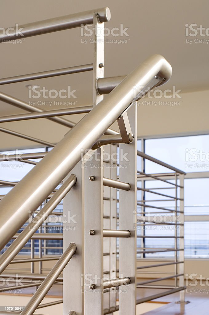 Stainless Steel Contemporary railing royalty-free stock photo
