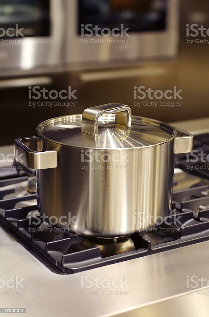 Stainless steel cooker royalty-free stock photo