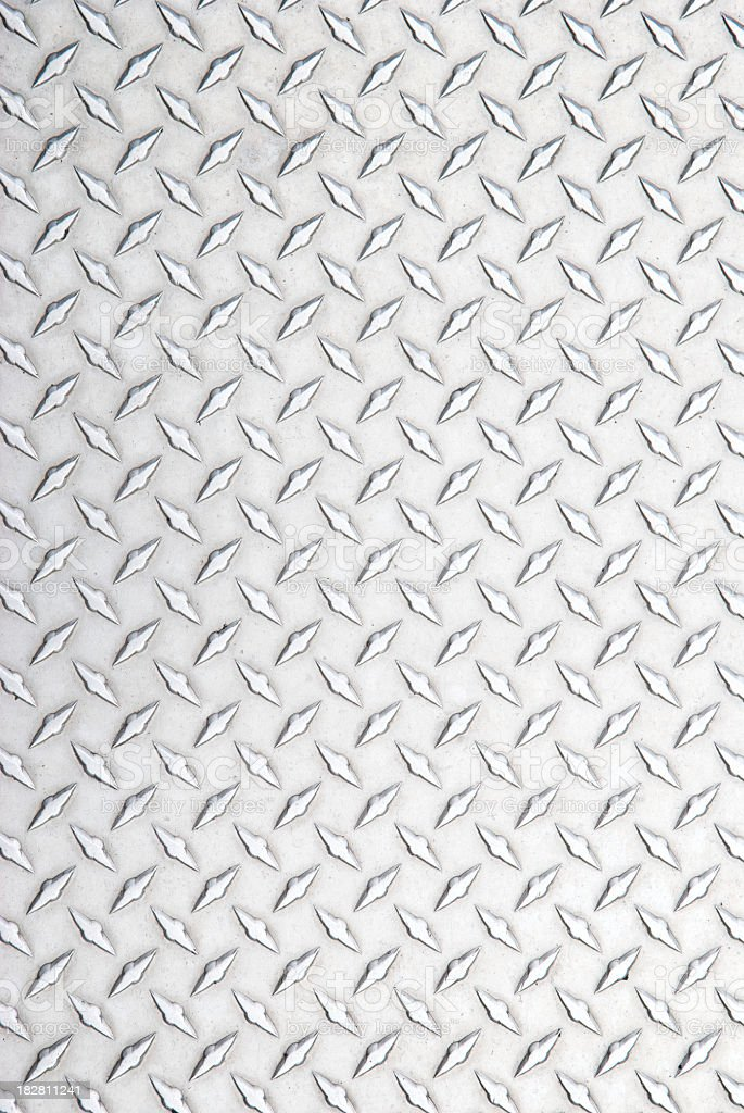 Stainless Steel Diamond Tread Background Silver Full Frame stock photo