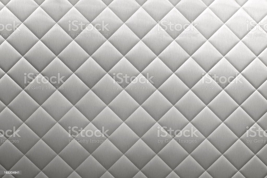 Stainless Steel Diner Diamond Plate Background stock photo
