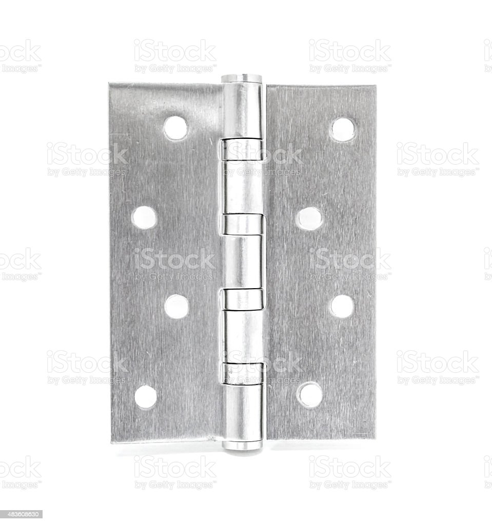 Stainless Steel Door Hinges On White Background royalty-free stock photo