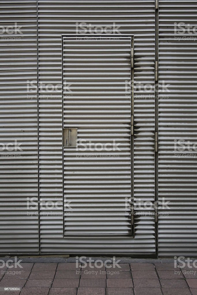 Stainless Steel Door royalty-free stock photo