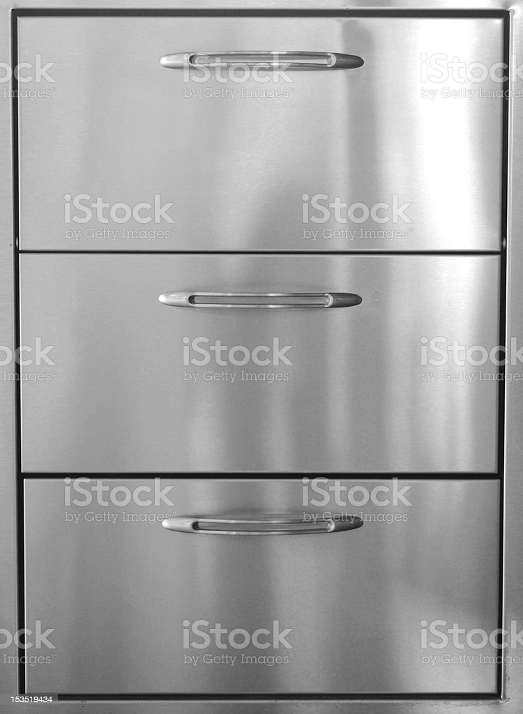 Stainless Steel Drawers stock photo