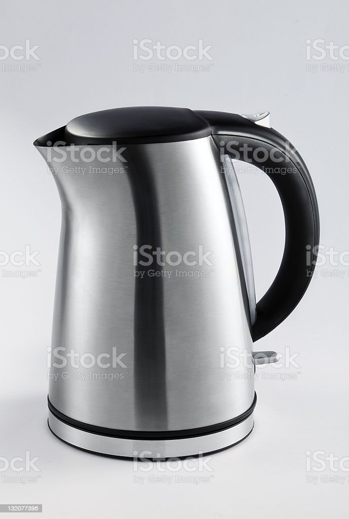 Stainless steel electric kettle royalty-free stock photo