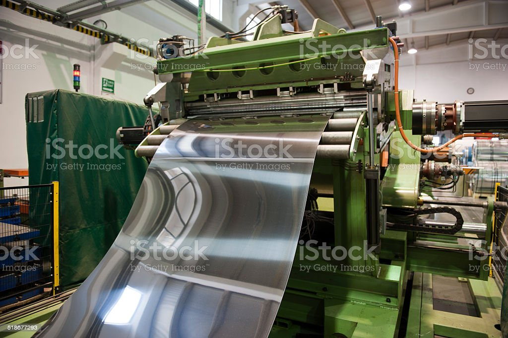 Stainless steel factory stock photo