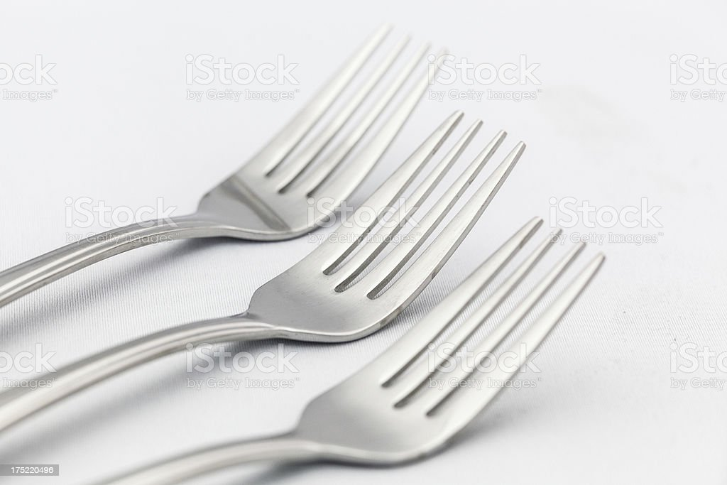 Stainless steel forks royalty-free stock photo