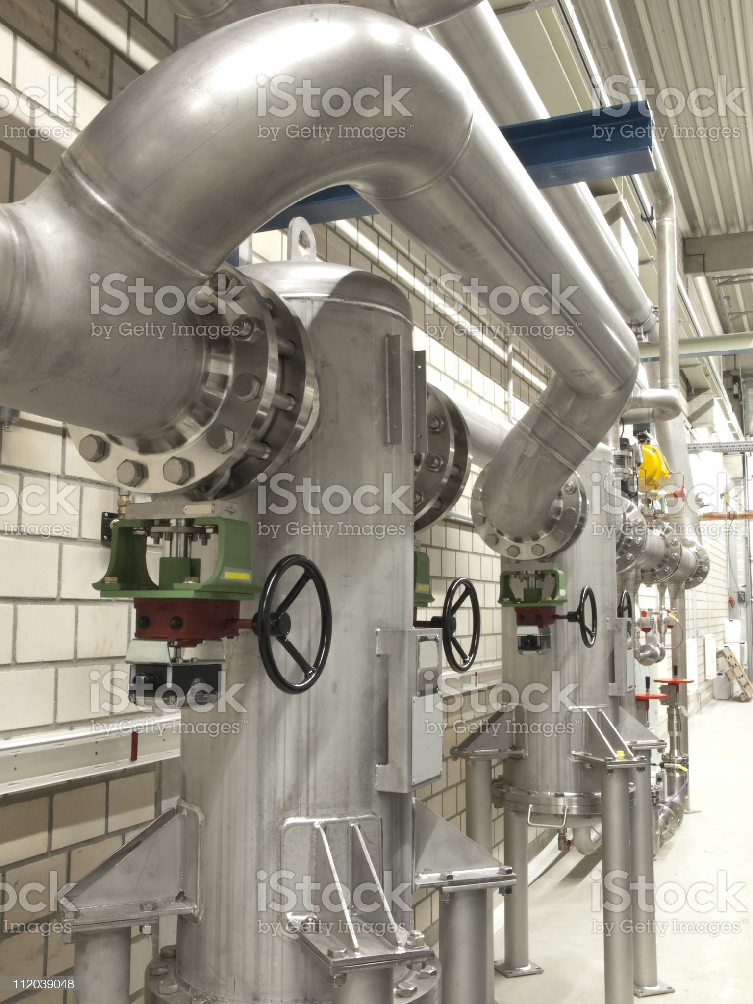 Stainless steel gas pipes royalty-free stock photo