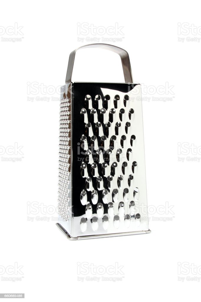 Stainless steel grater isolated. stock photo