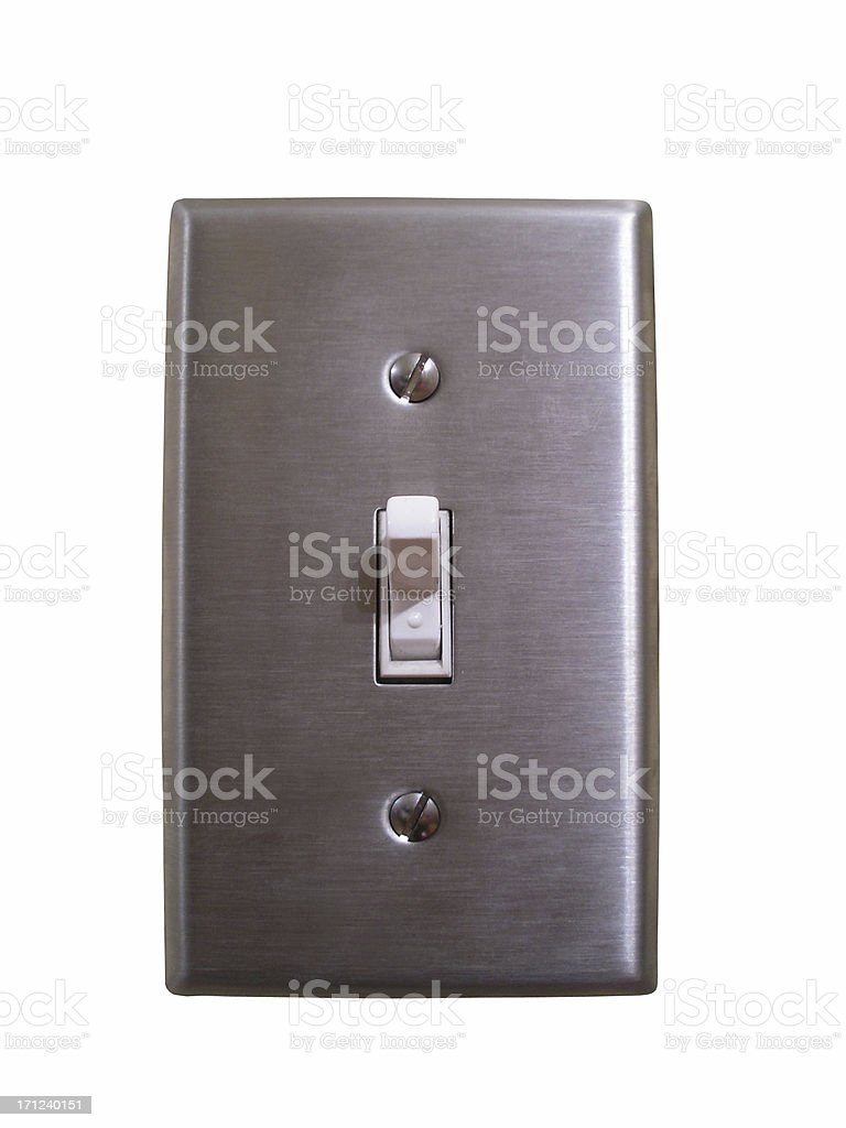 Stainless steel light switch royalty-free stock photo