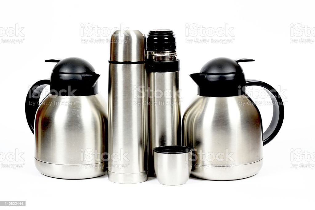 Inox metal thermos royalty-free stock photo