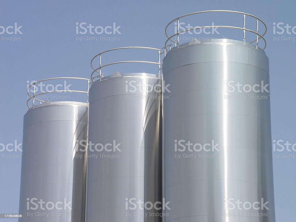 Stainless Steel Milk Tanks stock photo