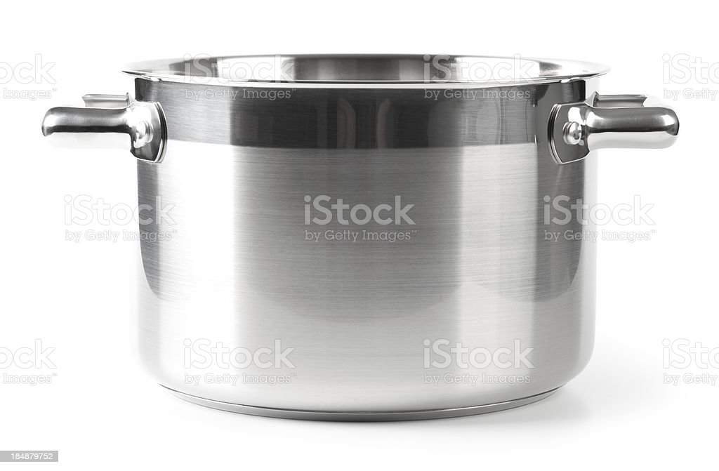 Stainless steel Pan stock photo