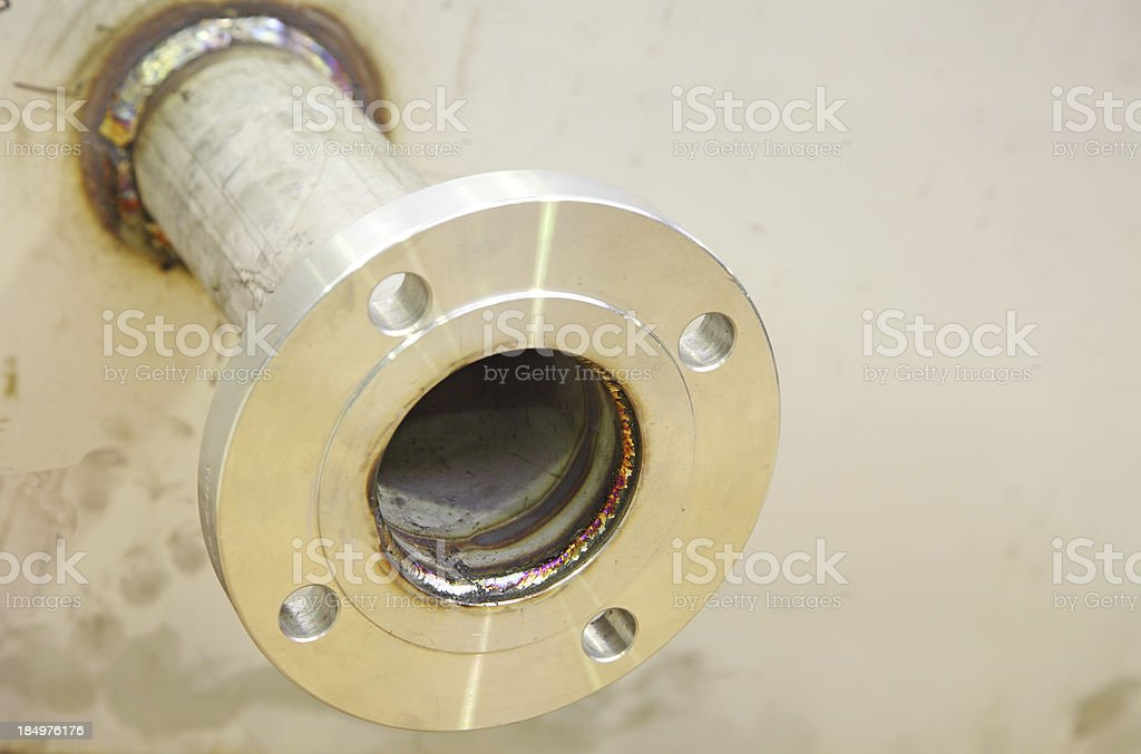 stainless steel pipe outlet royalty-free stock photo