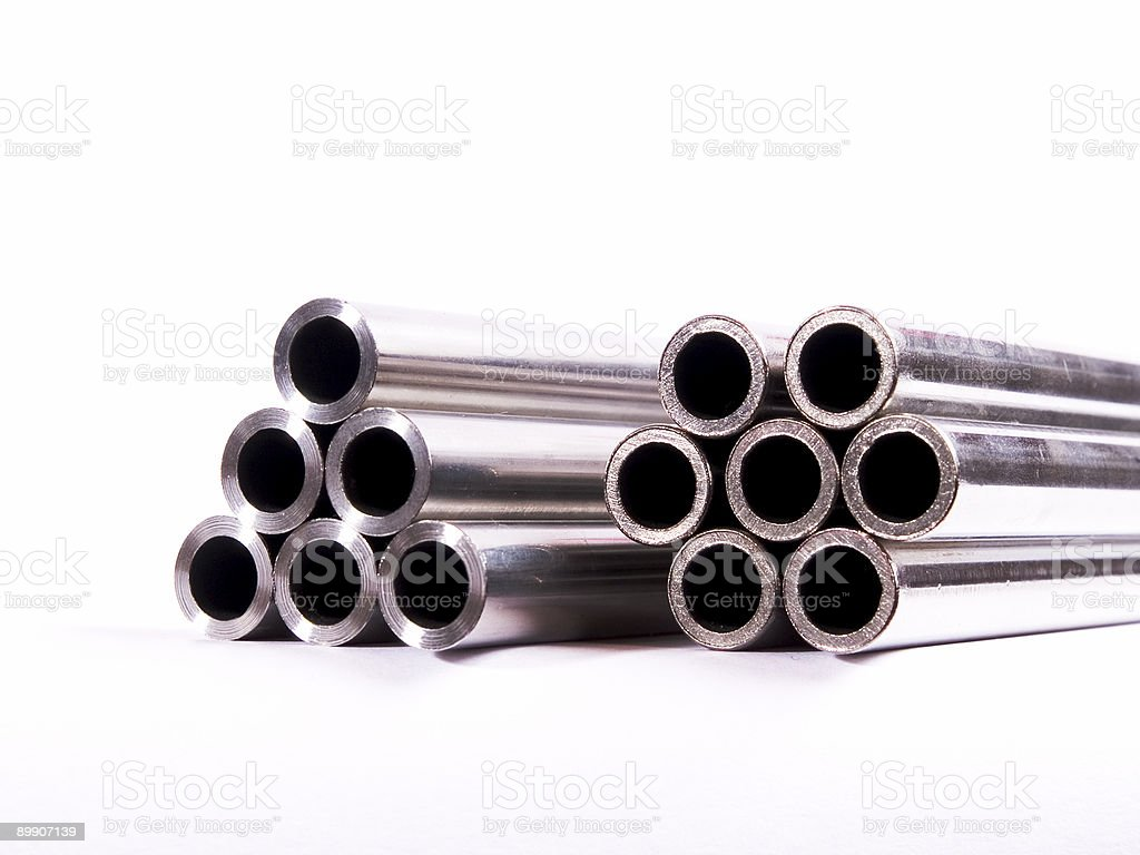 Stainless steel pipes royalty-free stock photo