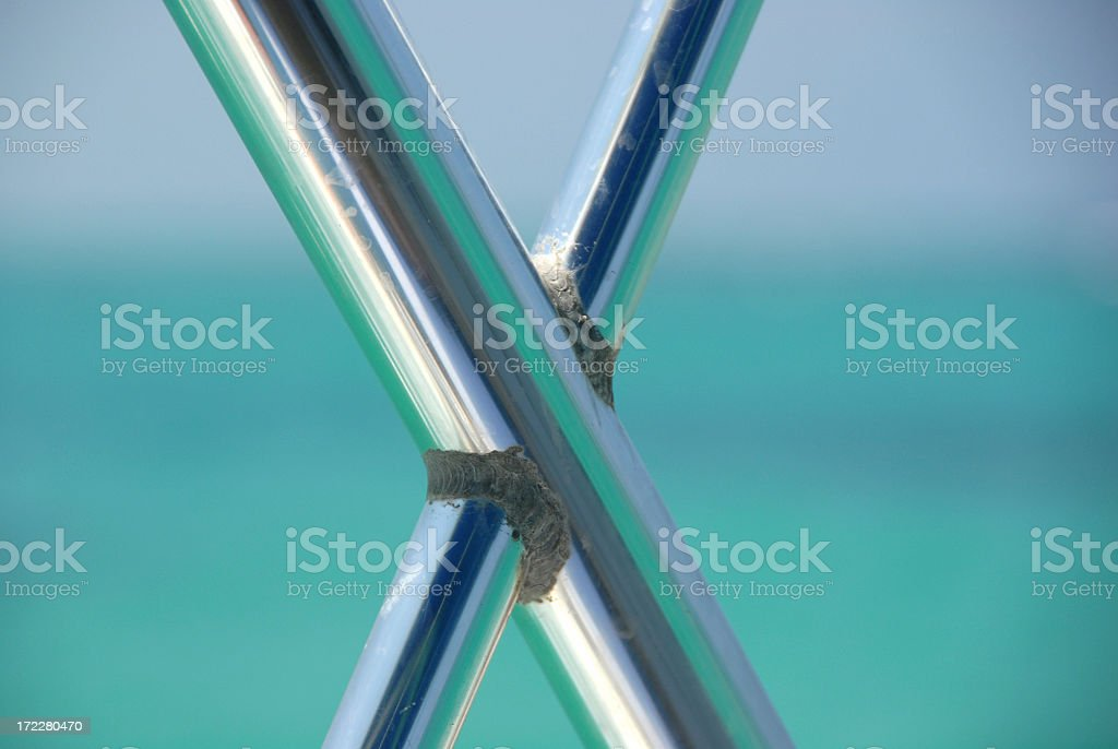 Stainless steel rods stock photo