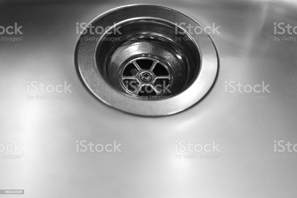Stainless Steel Sink close up stock photo