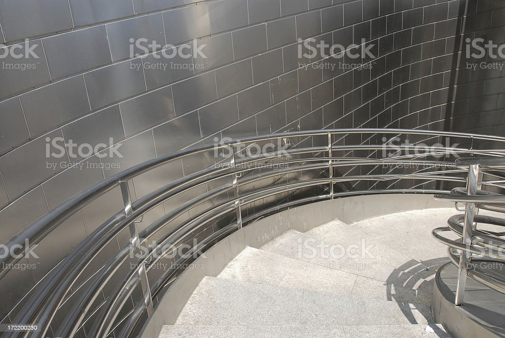 Stainless Steel Staircase royalty-free stock photo