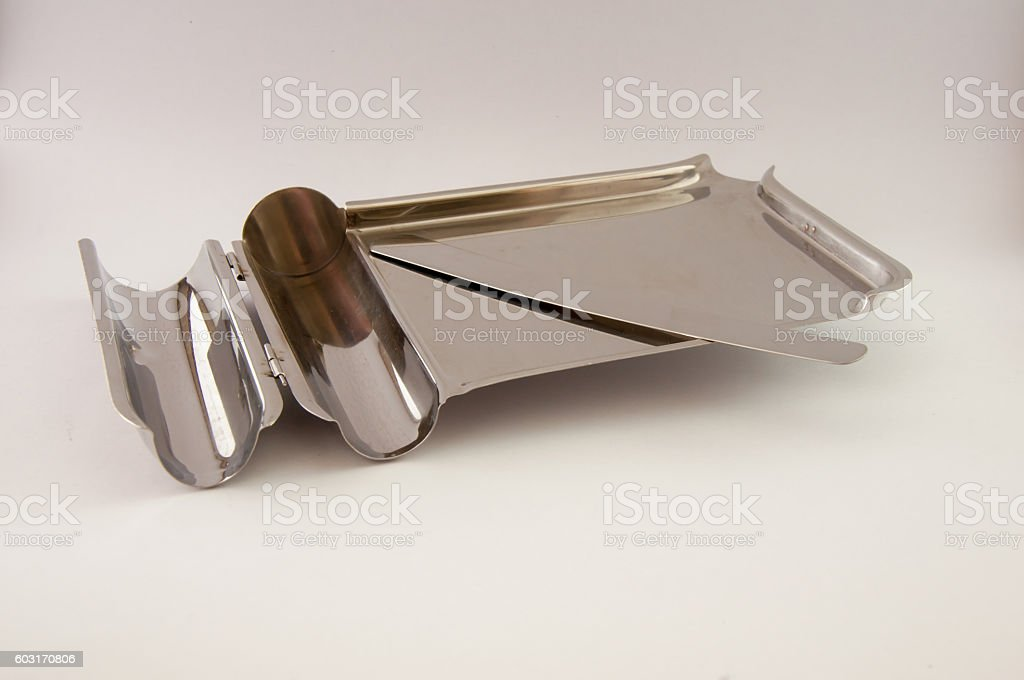 Stainless steel Stomatological tray, Medical tray stock photo