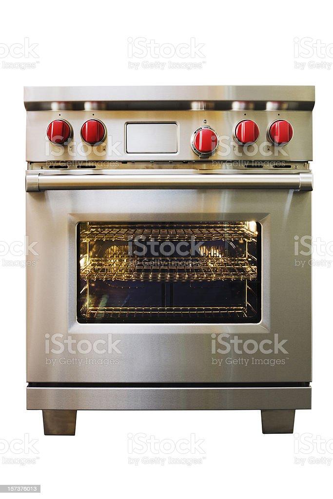 Stainless Steel Stove, Oven, Range Kitchen Appliance on White Background stock photo