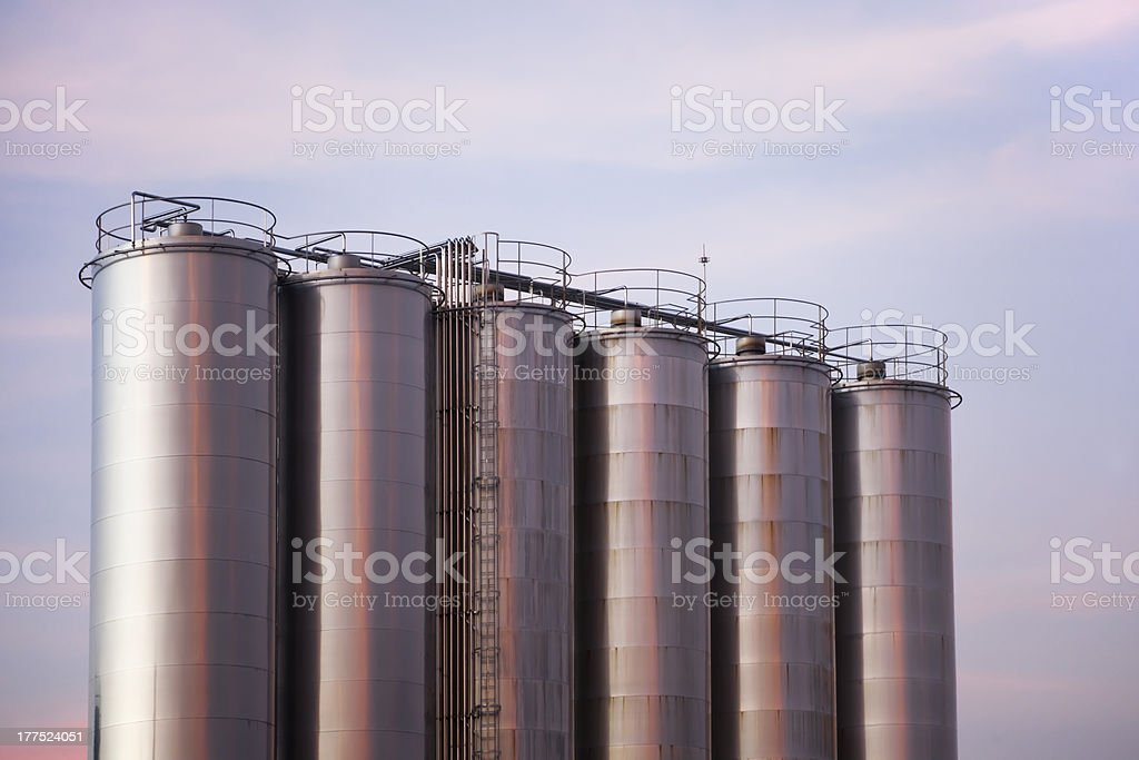 Stainless Steel Tanks stock photo