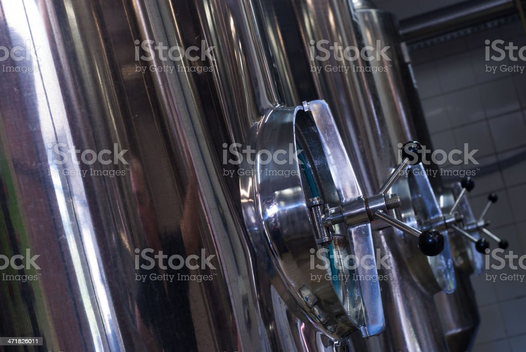 Stainless Steel Tanks royalty-free stock photo