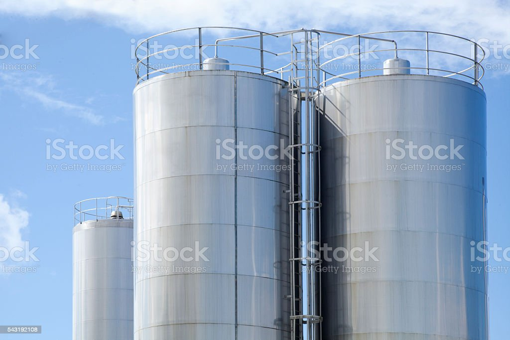 Stainless Steel Tanks stock photo