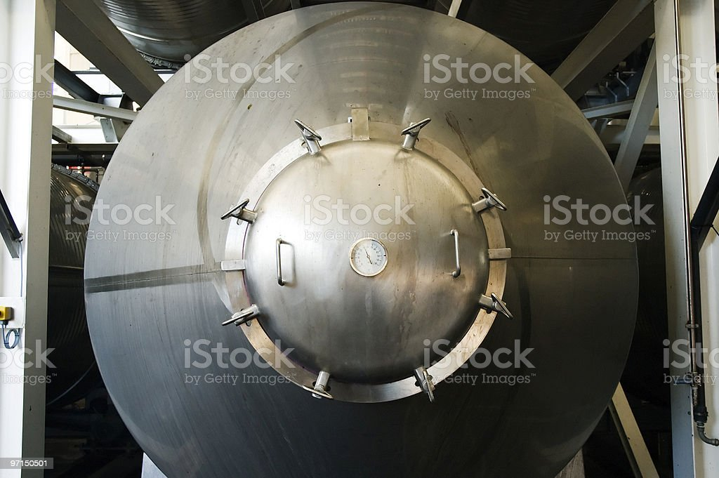 Stainless steel vat royalty-free stock photo
