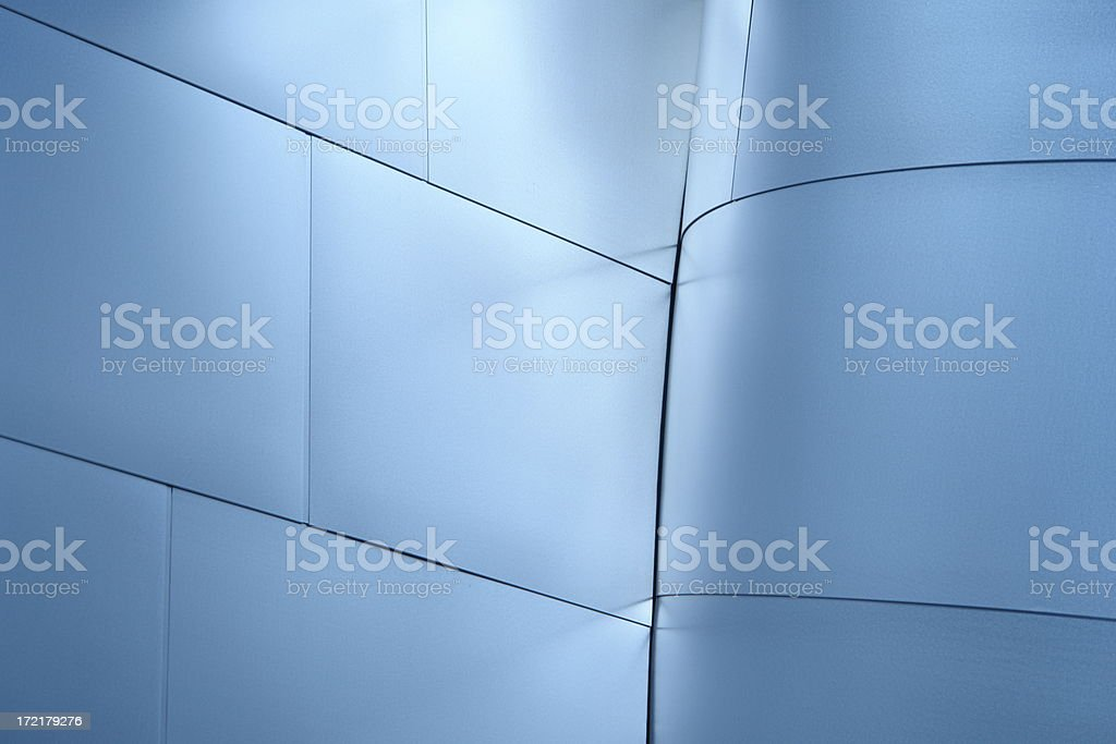 Stainless Steel Wall royalty-free stock photo