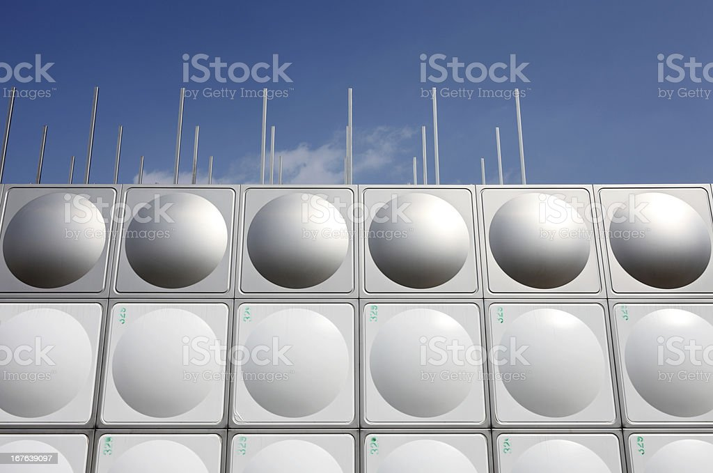 Stainless steel water tank royalty-free stock photo