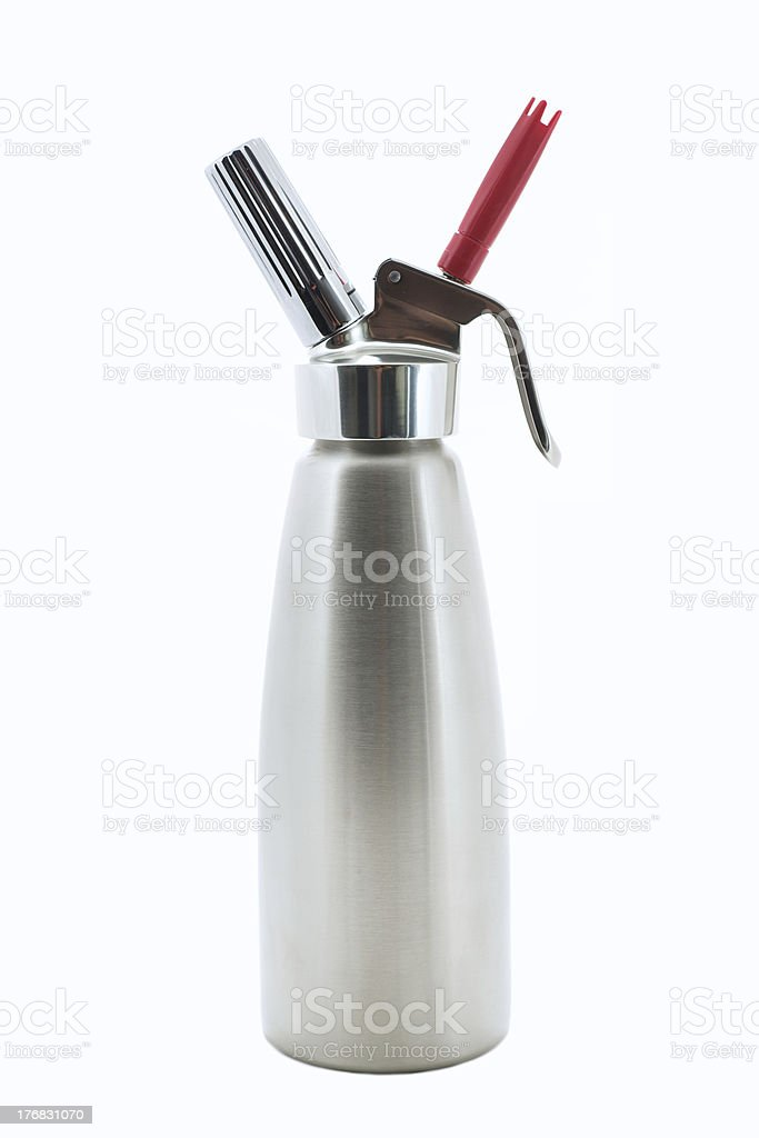 Stainless Steel Whipped Cream Dispenser stock photo