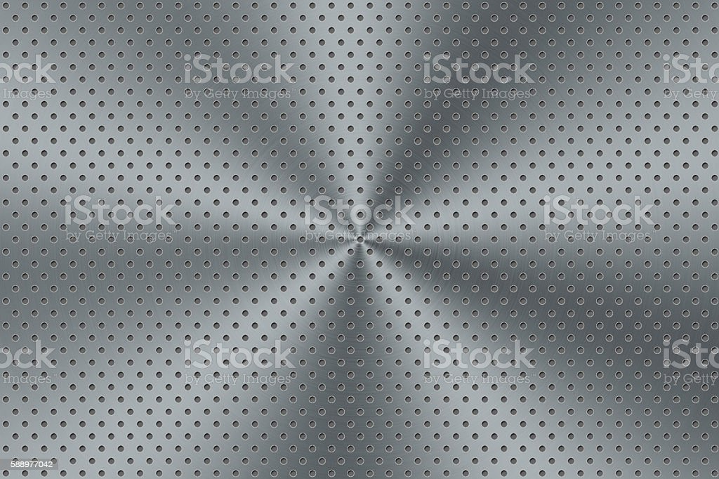 stainless steel with many dots texture background stock photo