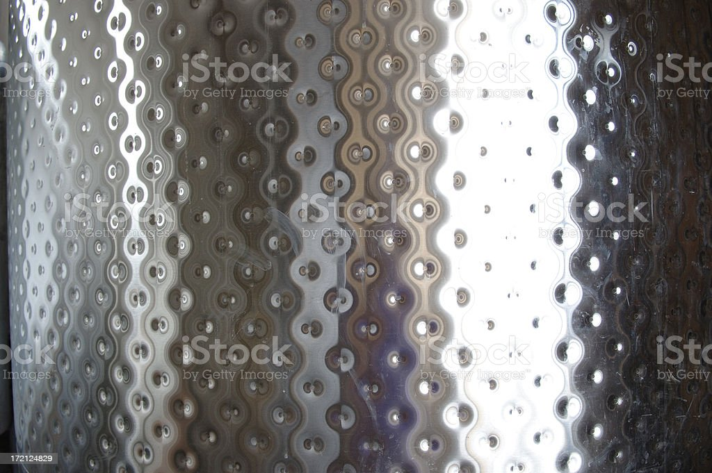 Stainless-steel winemaking barrel royalty-free stock photo