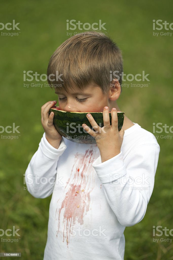 Stains on a T-shirt stock photo