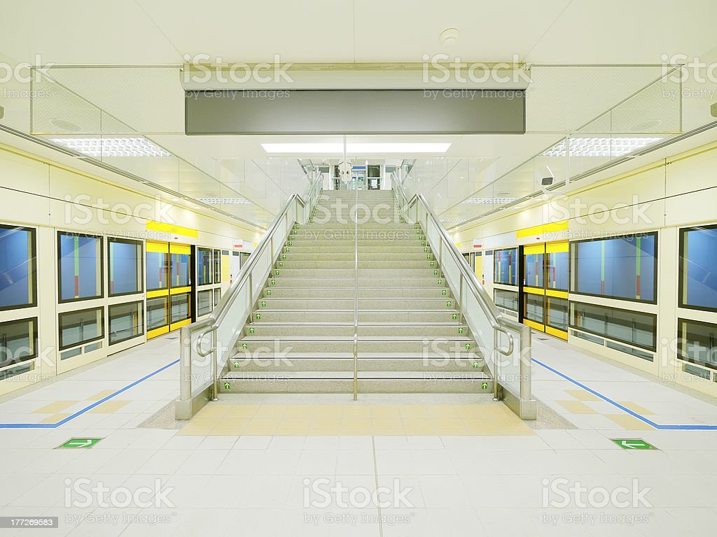 Stair and walkway royalty-free stock photo