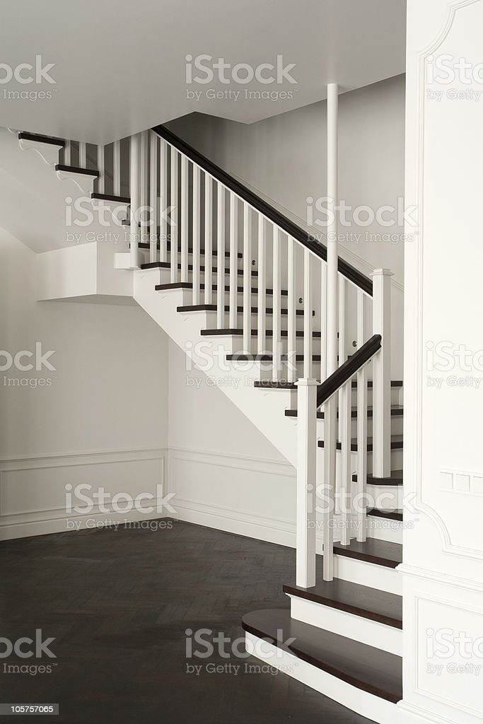 stair in white color royalty-free stock photo